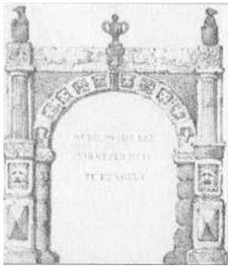 tekening poort Huis Hengelo