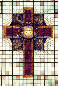 Westerkerk, raam met kruis